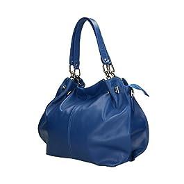 Aren – Shoulder Bag Borsa a Spalla da Donna in Vera Pelle Made in italy – 38x30x12 Cm