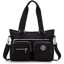 Outreo Bolsas de Viaje Sport Bolso Bandolera Mujer Bolsos de Moda Impermeable Messenger Bag Bolsos Baratos Escolares Mano para Tablet Nylon