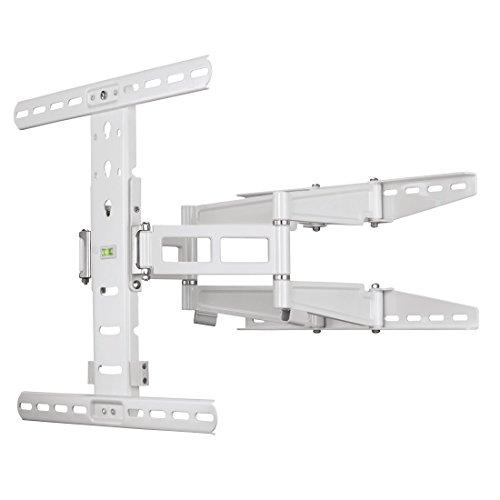 Hama TV Wandhalterung Fullmotion Ultraslim, neigbar, schwenkbar (vollbeweglich), 81 bis 142 cm Diagonale (32 bis 56 Zoll), max. 35 kg, VESA bis 400 x 400, weiß