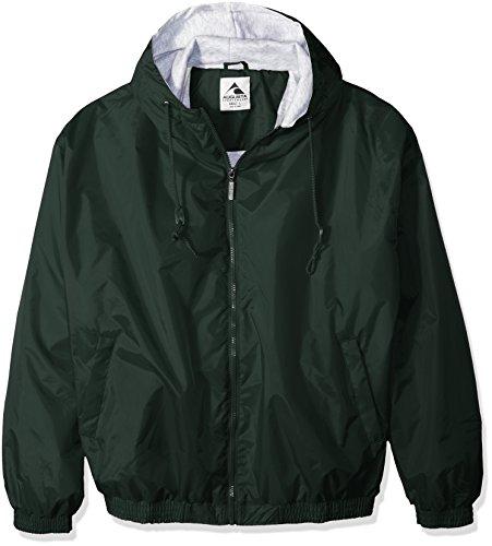 Augusta Sportswear Unisex Hooded Taffeta Jacke/Fleece gefüttert XL dunkelgrün