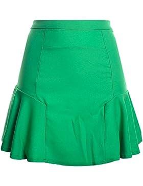 Mujer Faldas Cintura Alta Falda Delgado Minifalda Corto Vestidos De Fiesta Fruta Verde L