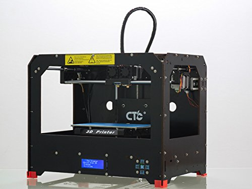 IMPRESORA 3D CON DOBLE EXTRUSOR  INCLUYE FILAMENTO ABS/PLA DE 1 X 1 75 MM  COLOR NEGRO