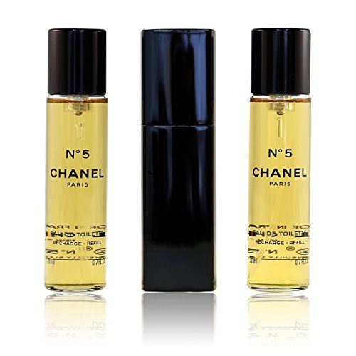 CHANEL Damendüfte N°5 Eau de Toilette-Zerstäuber Eau de Toilette Spray 20 ml + 2x Refill mit 20 ml 20 ml (Toilette Spray 5 Chanel De Eau)