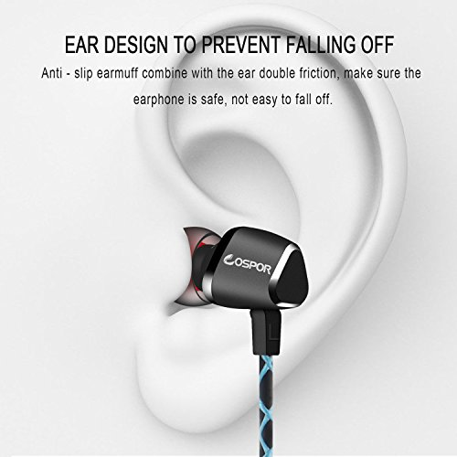 COSPOR In Ear Wired Earphones, Magnetic Noise Cancelling Headphones with mic