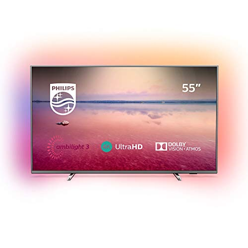 Philips Ambilight 55PUS6754/12 TV 55 inch LED Smart TV (4K UHD, HDR 10+, Dolby Vision, Dolby Atmos, Smart TV) dark silver