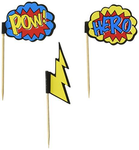 Ginger Ray POW & Hero Superhero Party Cupcake nimmt x 20 - Comic Superhelden