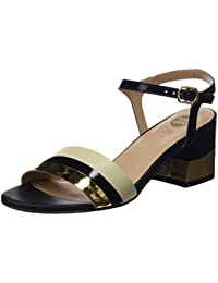 Gioseppo 45276, Zapatos de Tacón con Punta Abierta para Mujer, Negro (Black), 41 EU