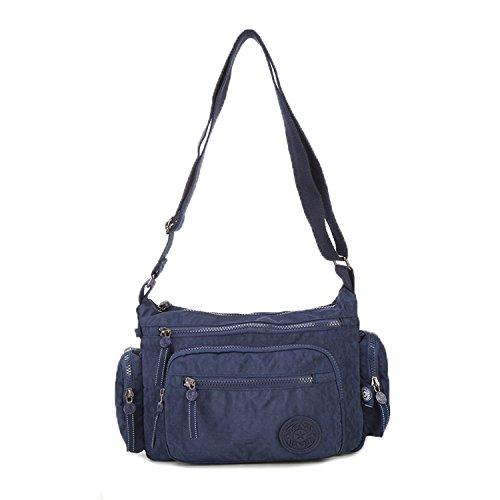 Foino Umhängetasche Wasserdicht Schultertasche Damen Reisetasche Lässige Sporttasche Leicht Seitentasche Mode Design Kuriertasche Taschen für Mädchen Büchertasche Vintage