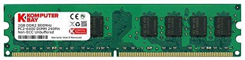 Non-ecc-ddr2-dimm-speicher (Komputerbay 2GB DDR2 800MHz PC2-6300 PC2-6400 (240 PIN) DIMM Desktop-Speicher)