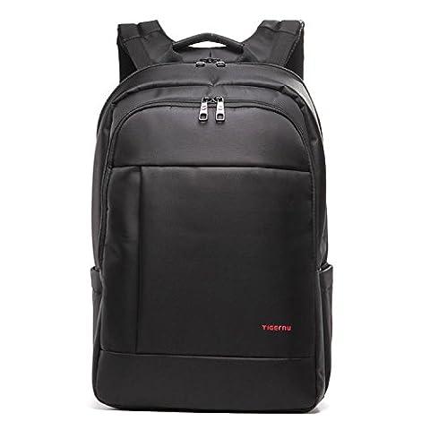 Tigernu ordinateur portable sac à dos 17.3 pouces pour ordinateur portable étanche résistant Anti-Theft Zip École de commerce Sacs à dos-noir