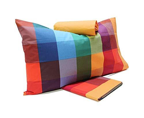 Gabel completo lenzuola letto singolo 1 piazza wilson (1 rosso multicolor)