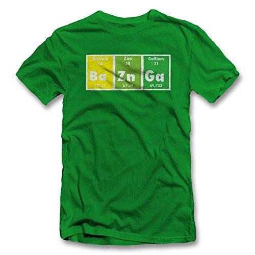 Bazinga Elements T-Shirt Gruen-Green 2XL -