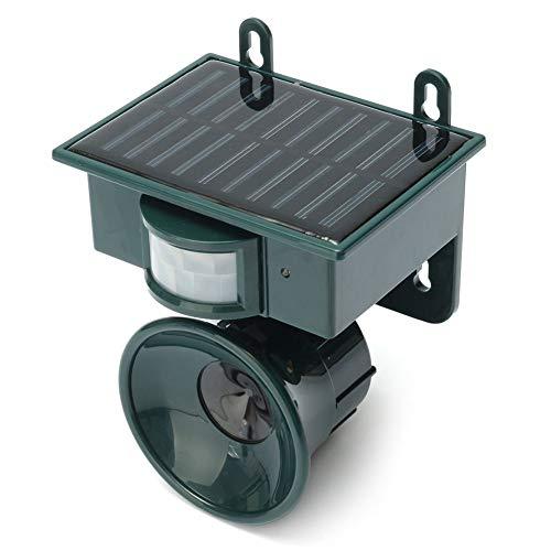 ZMMQCJ Solar Powered Ultrasonic Pest Repeller Bird Dog Cat Fox Ratón Chaser  Rata Repeller PIR Sensor Mantenga a los Animales alejados
