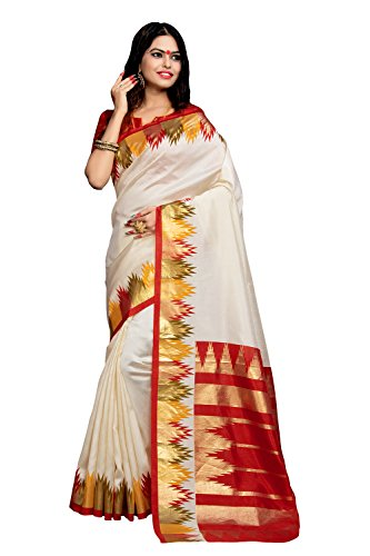 Applecreation Women's bhagalpuri silk saree (printed sarees_7PJ5009_FreeSize)