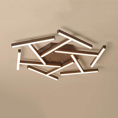 WSW LED Geometrie Linie Deckenleuchte Braun Gelb Warmes Licht Aluminium Acryl Kronleuchter Esszimmer Wohnzimmer Studie Schlafzimmer Einfach Modern Kreative Mode