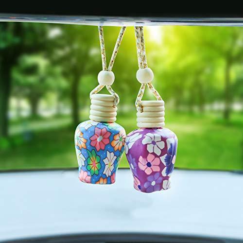 P12cheng, 2 Mini Deodorante per Auto in Argilla polimerica Vuota da Appendere, diffusore di Profumo Random Colo