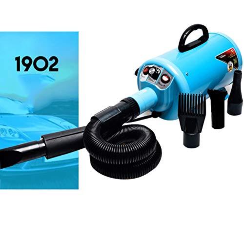 LANA Hundesalon-Trockner, Hochleistungs-leises Haustiergebläse-Gebläse 220V / 110V 2200W Vier Farben wahlweise freigestellt (Farbe : Blau) -