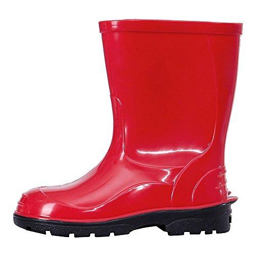 LEMIGO Kinder Gummistiefel Regenstiefel Oli (25, Rot)