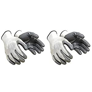 Klaxon Nylon Safety Hand Gloves (2 Pair)