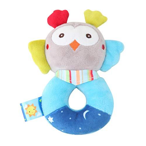 Mitlfuny Auto-Modell Plüsch Bildung Squishy Spielzeug aufblasbares Spielzeug im Freien Spielzeug,Tierhandglocken-Baby-weiche Spielwaren-Rassel-Bett scherzt Griff-Spielzeug