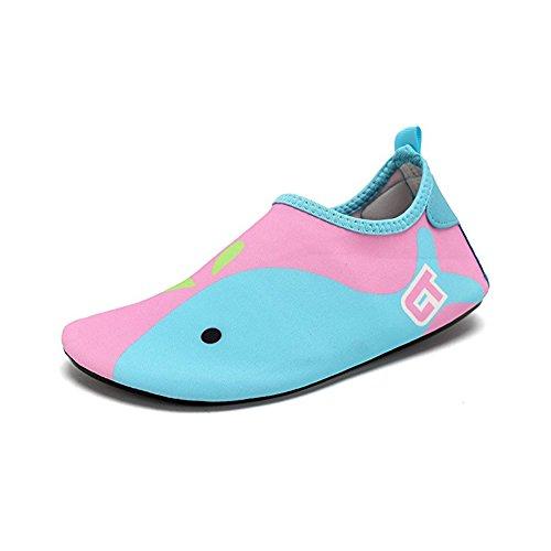 Descalças De De Secagem Crianças Multifuncionais Yoga Azul Para Aqua Água Rápida Meias Claro Exercício Praia Piscina Rosa De Sapatos De Surf Acender dqqE6xw