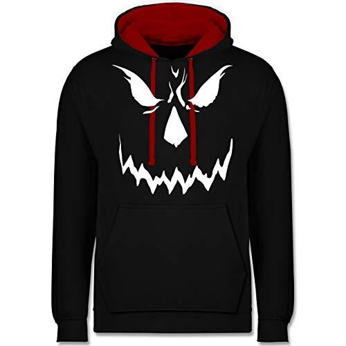 Shirtracer Halloween - Scary Smile Halloween Kostüm - XXL - Schwarz/Rot - JH003 - Kontrast ()