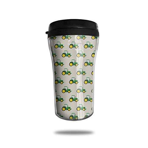 Klassische Reise-Becher-grüne Traktor-Reise-Becher-Tasse für Kaffee, heiße u. Kalte Getränke, 8-Unze, Anti-Spill - Traktor-becher