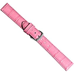 Watch Band Replacement Band Leather Kalf pink Alligator Print 20330S, width:28mm