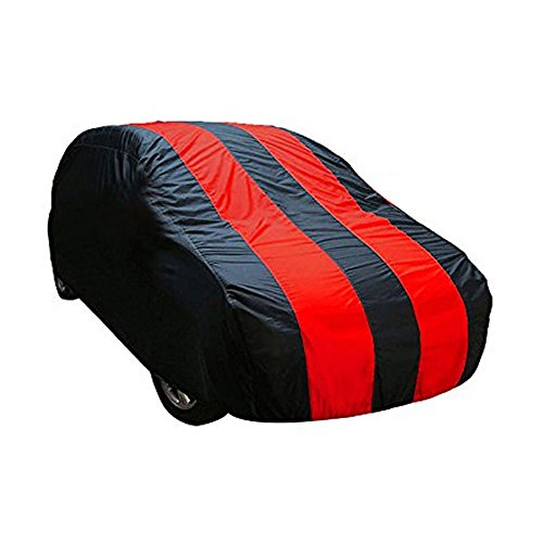 Fabtec Red & Blue Car Body Cover For Maruti Baleno (Tirpal)