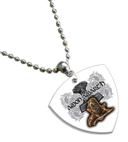 Amon Amarth Bass Pick Collana Necklace Band Plettro Plettri