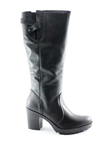 IGI & CO 68180 Schwarze Schuhe Damenstiefel hochhackige Leder Reißverschluss Nero