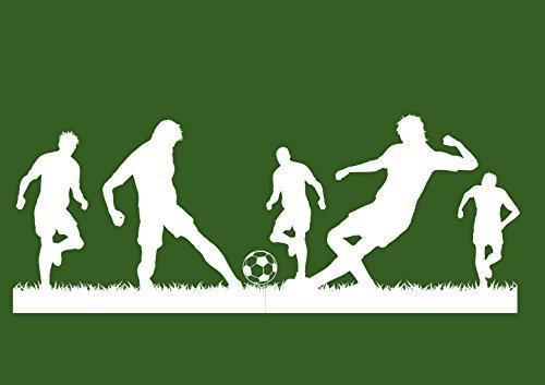 Deco-idea Wandtattoo Wandaufkleber Fussballer Fussball Soccer Football Kinderzimmer wfb03(Printed Sticker,ca.20 x 8cm)