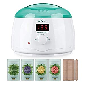 Wax Warmer, IFM TOOLS Hair Removal Waxing Kit Wax Pot with Precision Temperature Control (86°F - 275°F), with 4 Flavor Hard Wax Beans & 10 Wax Applicator Sticks