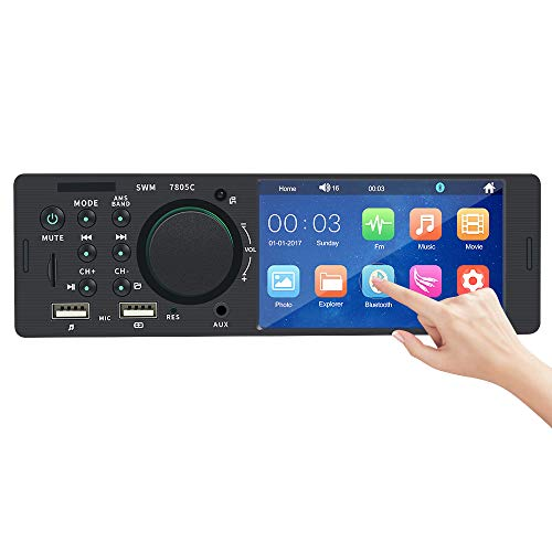 1 Din Autoradio MP5 Stereo Player mit Bluetooth / 4,1 Zoll Touchscreen/Dual USB/AUX/SD/FM Touch-screen Bluetooth Dual