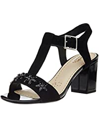 Clarks Women's Deva Daisy Leather Fashion Sandals