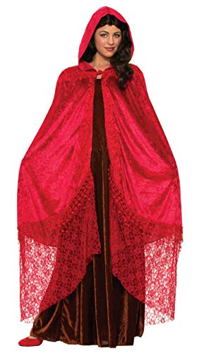 Kostüm Forum Renaissance - Medieval Fantasy Ruby Red Adult Costume Cape One Size