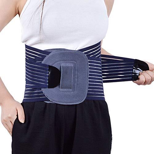 AOSTFOX Rückenbandage Rückenstütze - Rückenstützgürtel Stützgürtel - Rücken Rückengurt Bauch Bandage Fitnessgürtel gegen Rückenschmerzen - für Herren und Damen,L
