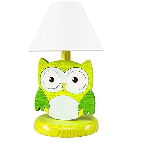 Kama-Design lampada da tavolo tutti i miei animali legno per
