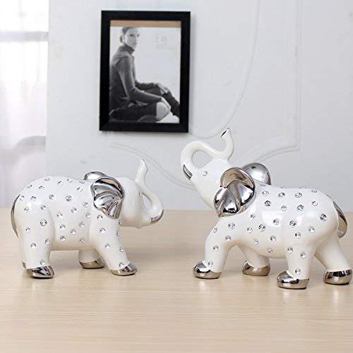 GWFVA Ou Ming (EIN Paar Elefanten Spaziergang Wie Eine Erfolgreiche Keramik Ornamente Handwerk Kreative Einrichtungsgegenstände Ornament Porzellankunst Auf Einem Wohnzimmer