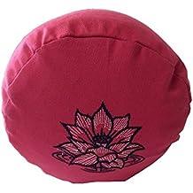 // Longitud aprox Ideal para practicar yoga // Coj/ín zafu // Coj/ín de meditaci/ón // Base p 67 cm y altitud aprox cultivo biol/ógico 13 cm Coj/ín de yoga cuadrado /»Paravati/« relleno de c/áscara de espelta