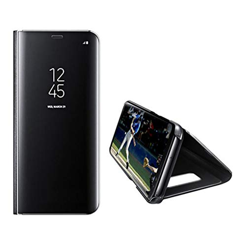Sweau Galaxy Note 4 Hülle,Galaxy Note 4 Flip Handyhülle Spiegel Handyhülle, Smart Clear Standing View Mirror Cover PC Spiegel Flip Tasche Ultra dünn 360 Full Body Schutzhülle für Galaxy Note 4