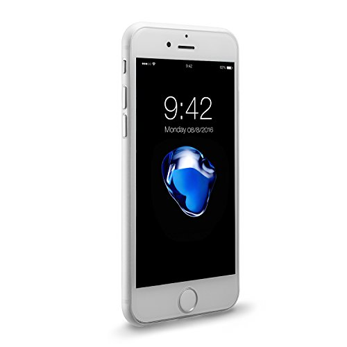 iPhone 8 Hülle und iPhone 7 Hülle( 4.7 inch),0.3mm Ultradünne Weltweit Dünnste Hart Schützen Abdeckung Sstoßstange Leichtes für iPhone 7(2016)&iPhone 8(2017) Diamantschwarz Weiß 0.3mm