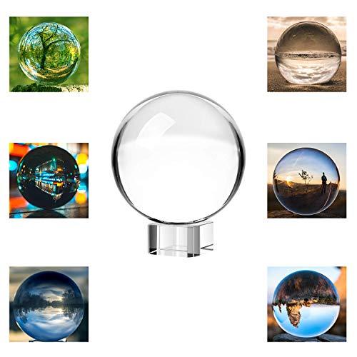 Neewer® 80mm/3Pulgadas Transparente Bola de Cristal Globo Con Libre Soporte De Cristal Para Feng Shui / Adivinación O Decoración para Boda / Hogar / Oficina