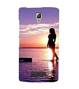EPICCASE Walk on the beach Mobile Back Case Cover For Lenovo A2010 (Designer Case)