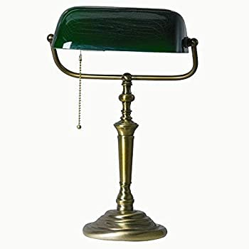 Bankerleuchte LED 4W Ancilla in bronze, Glas grün