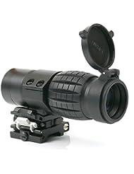 Funtalker tactique 3x Magnifier Scope Sight avec flip à côté 20mm Rail Mount Scopes