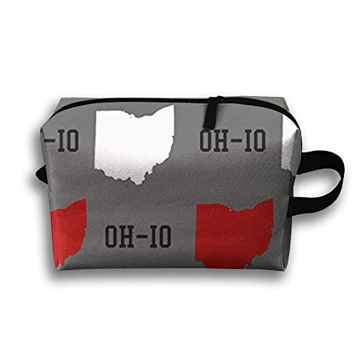 Oh-Io State Gray Travel Makeup Cosmetic Pouch Makeup Travel Bag Purse for Women Or Girls (Geburtstag Ohio State)