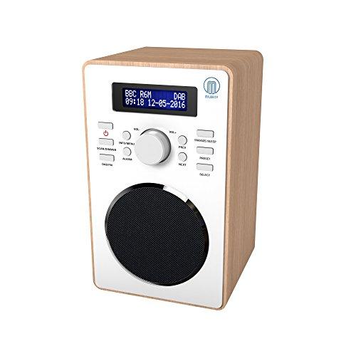 Barton II Retro DAB/DAB+ Digital FM Upright Radio/Alarm Clock/Wood Effect Finish/Mains Powered (Wooden)