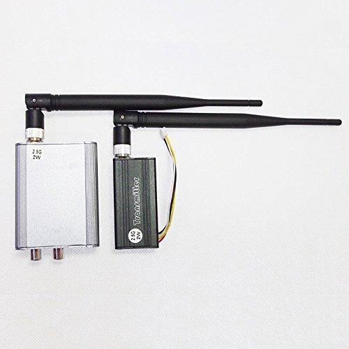 Camecho 2W / 2000mw 2.5G 4-CH 4 canales Hasta 800M de vídeo inalámbrico de audio AV Transmisor Receptor PAL / NTSC para FPV CCTV kit de la cámara