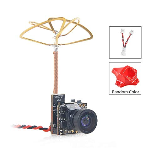 Crazepony-UK Tiny Whoop FPV Micro cámara AIO Camera 120 grados 5.8G Transmisor de 40CH 25mW con antena de hoja de trébol polarizada circular
